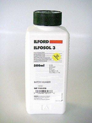ILFORD ILFOSOL 3  FILM DEVELOPER 500ml