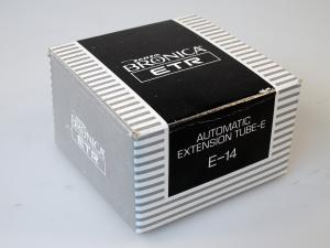 BRONICA E-14 ETR AUTOMATIC EXTENSION TUBE-E *** (BOXED)